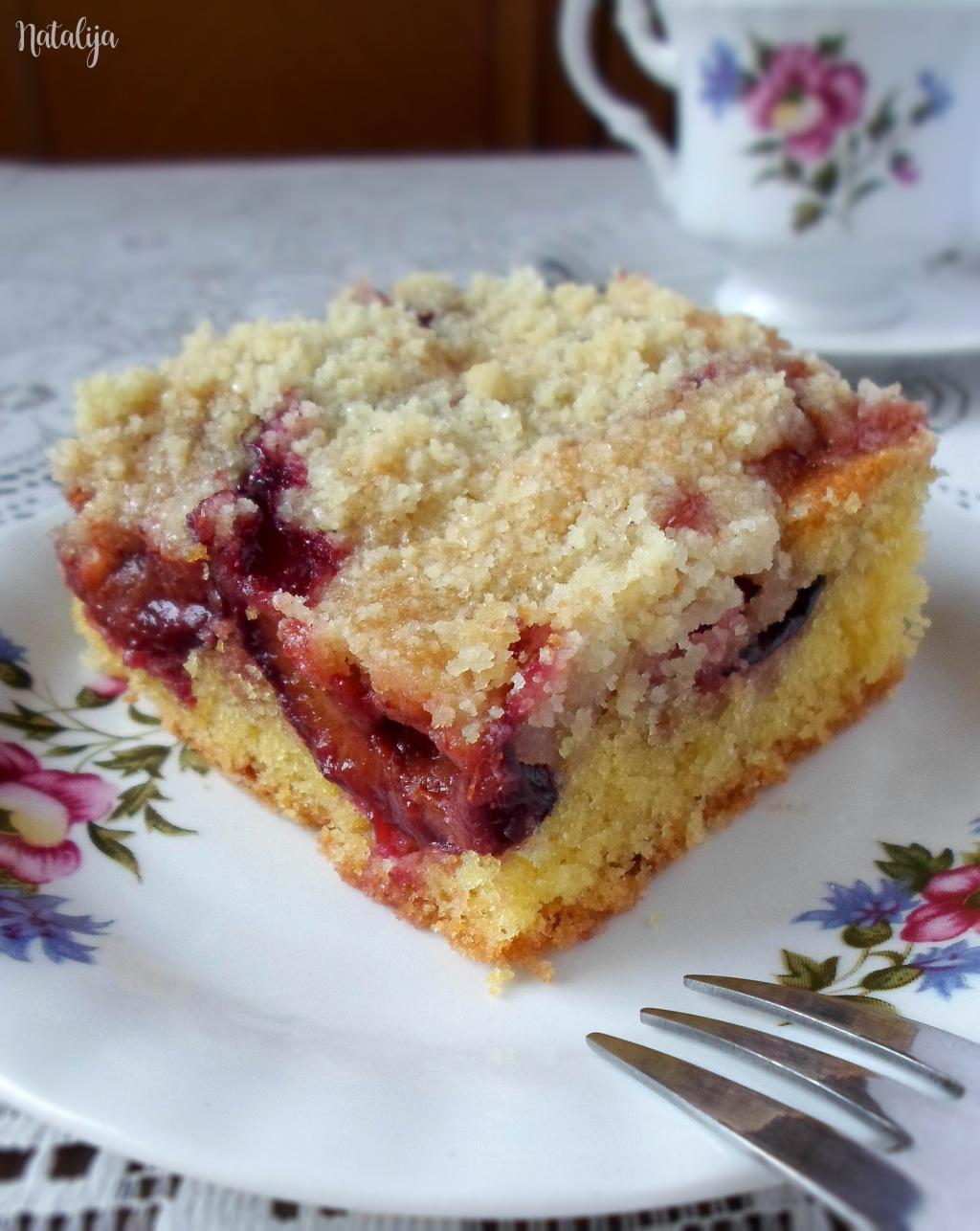 Crumble kolač sa šljivama