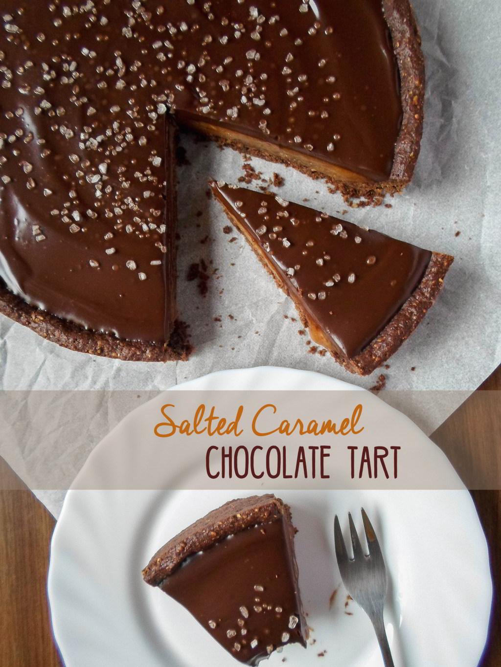 Čokoladni tart sa slanom karamelom