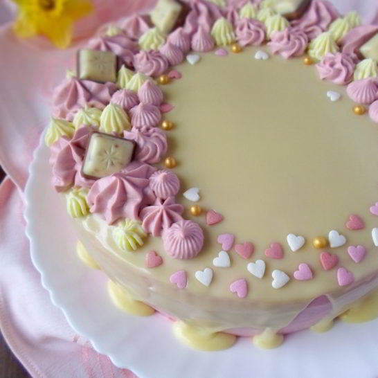 Nugat torta sa belom čokoladom
