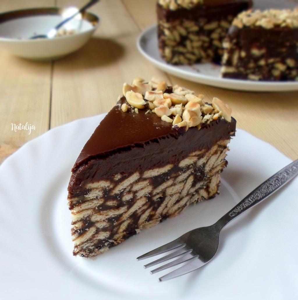 Čoko-rum keks torta
