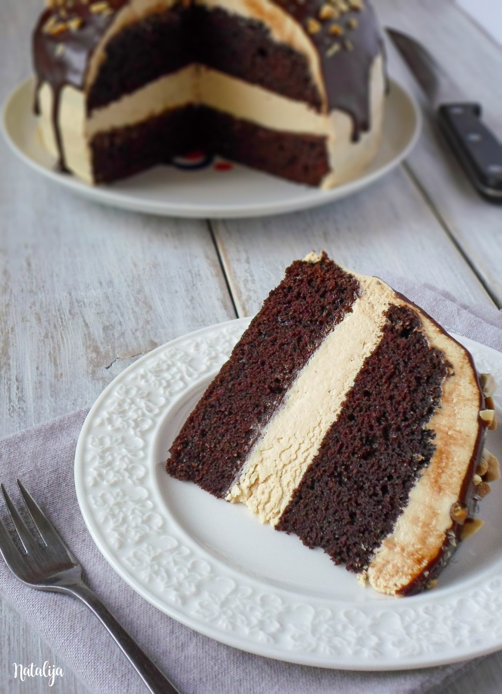Čokoladna torta sa kikiriki puterom