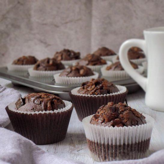 Duplo čokoladni mafini