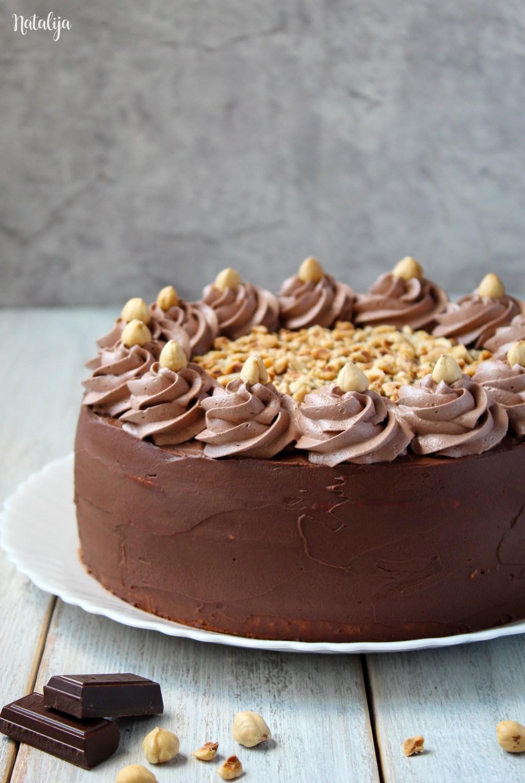 Čokoladna nugat torta