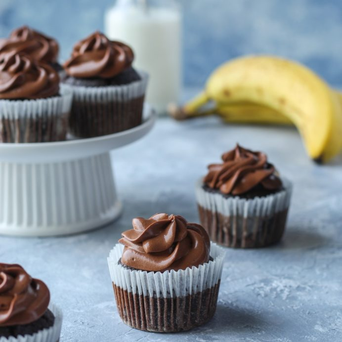 Čoko-banana cupcakes