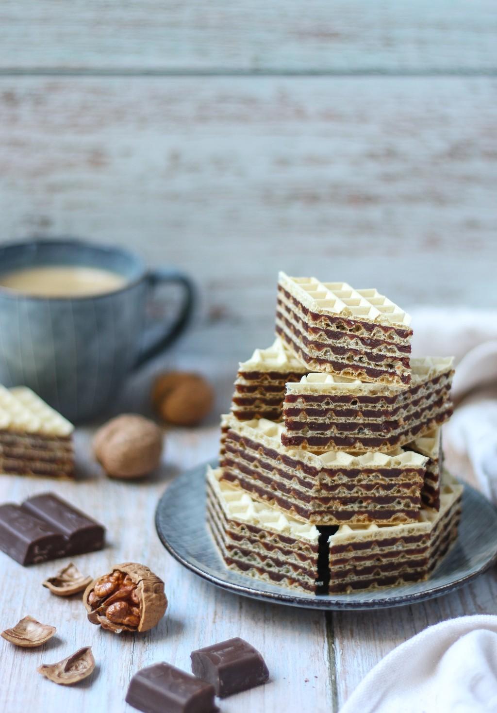 Oblande sa čokoladom i orasima