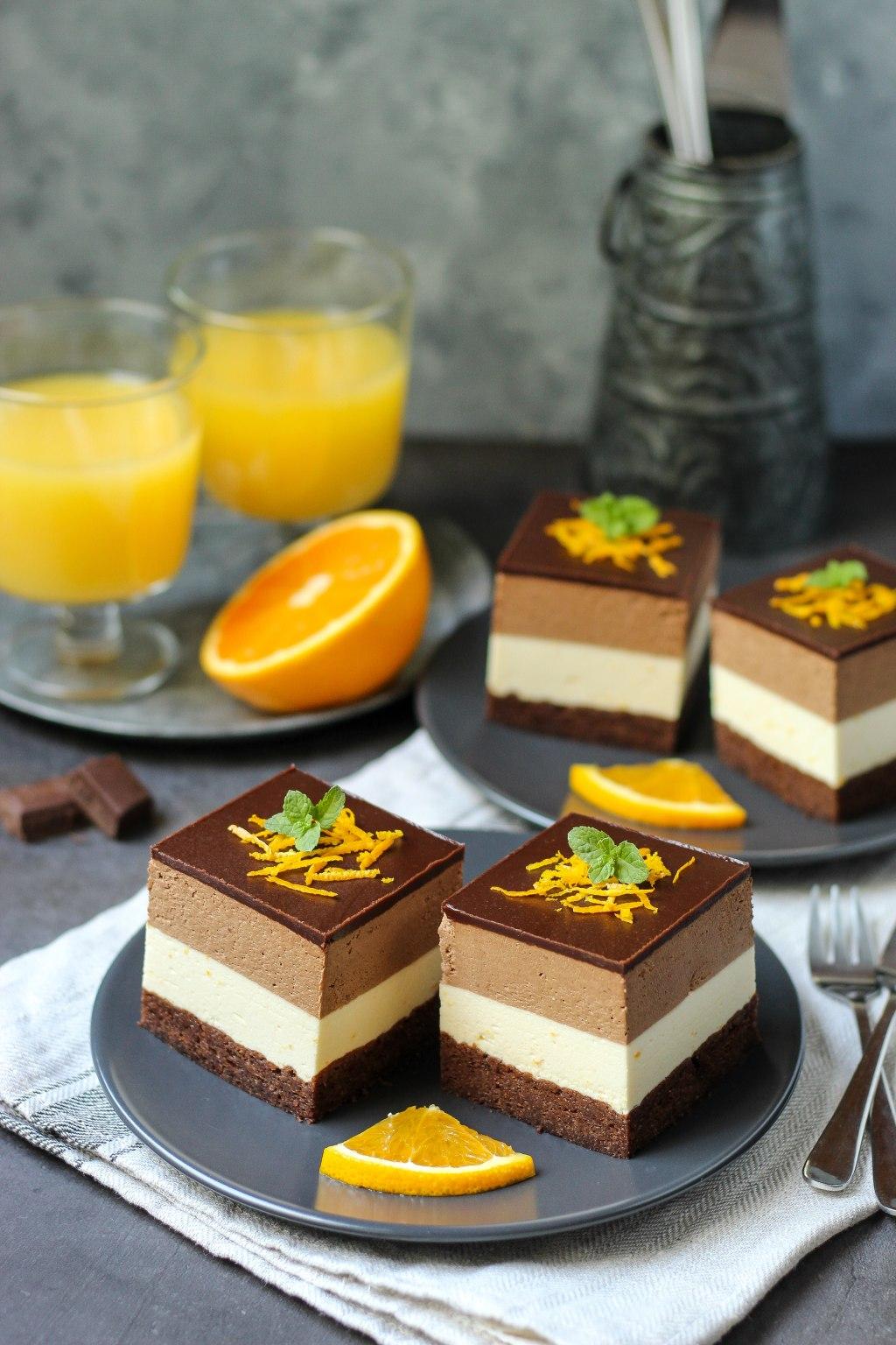 Mousse kocke sa čokoladom i narandžom