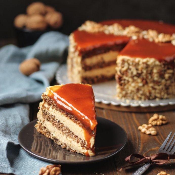 Karamel torta sa orasima 6