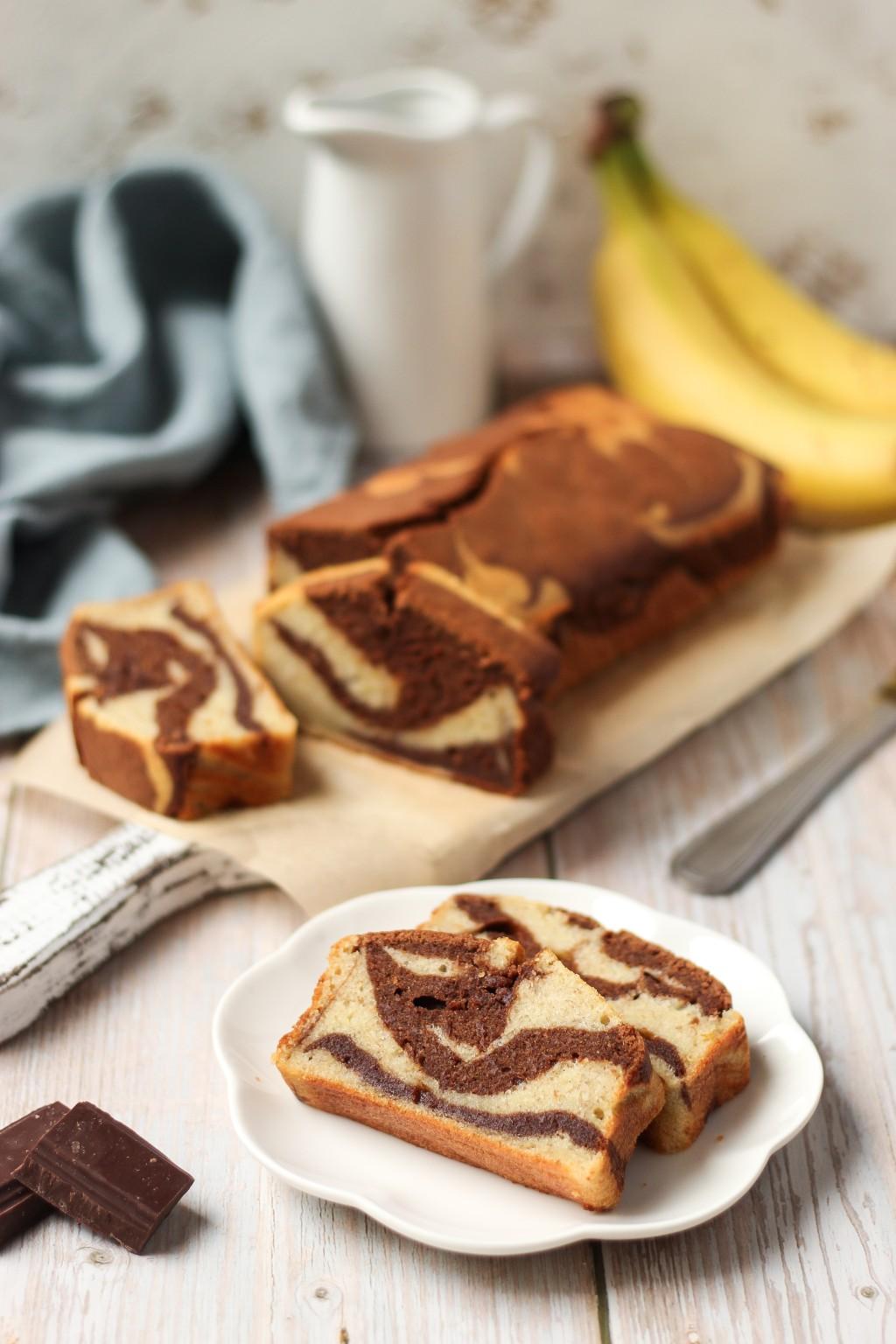 Mramorni banana kolač 3