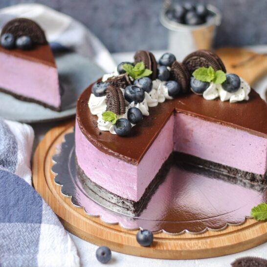 Oreo-borovnica cheesecake 4