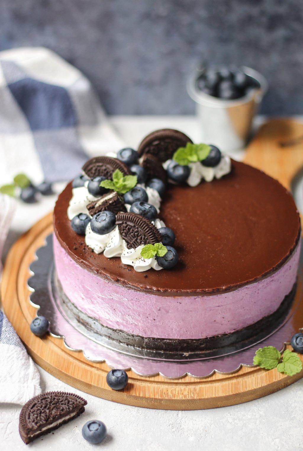 Oreo-borovnica cheesecake 3