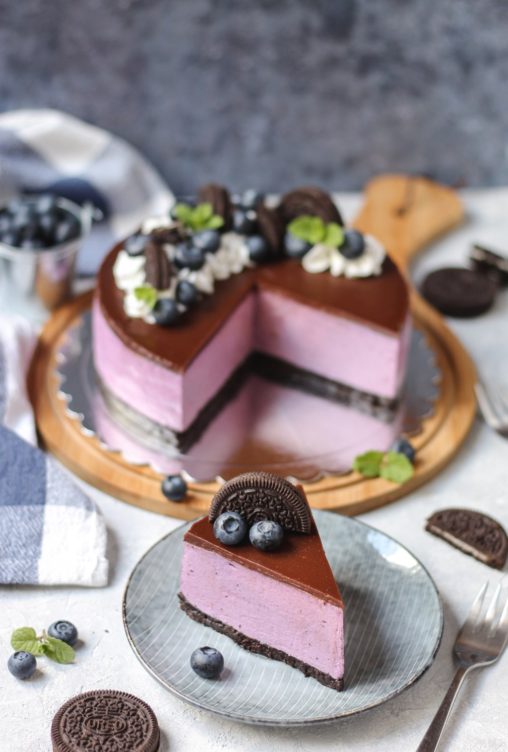 Oreo-borovnica cheesecake 6