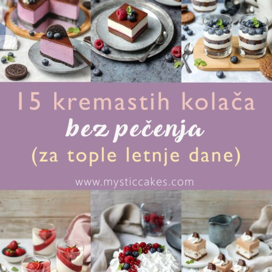 15 kremastih kolača bez pečenja