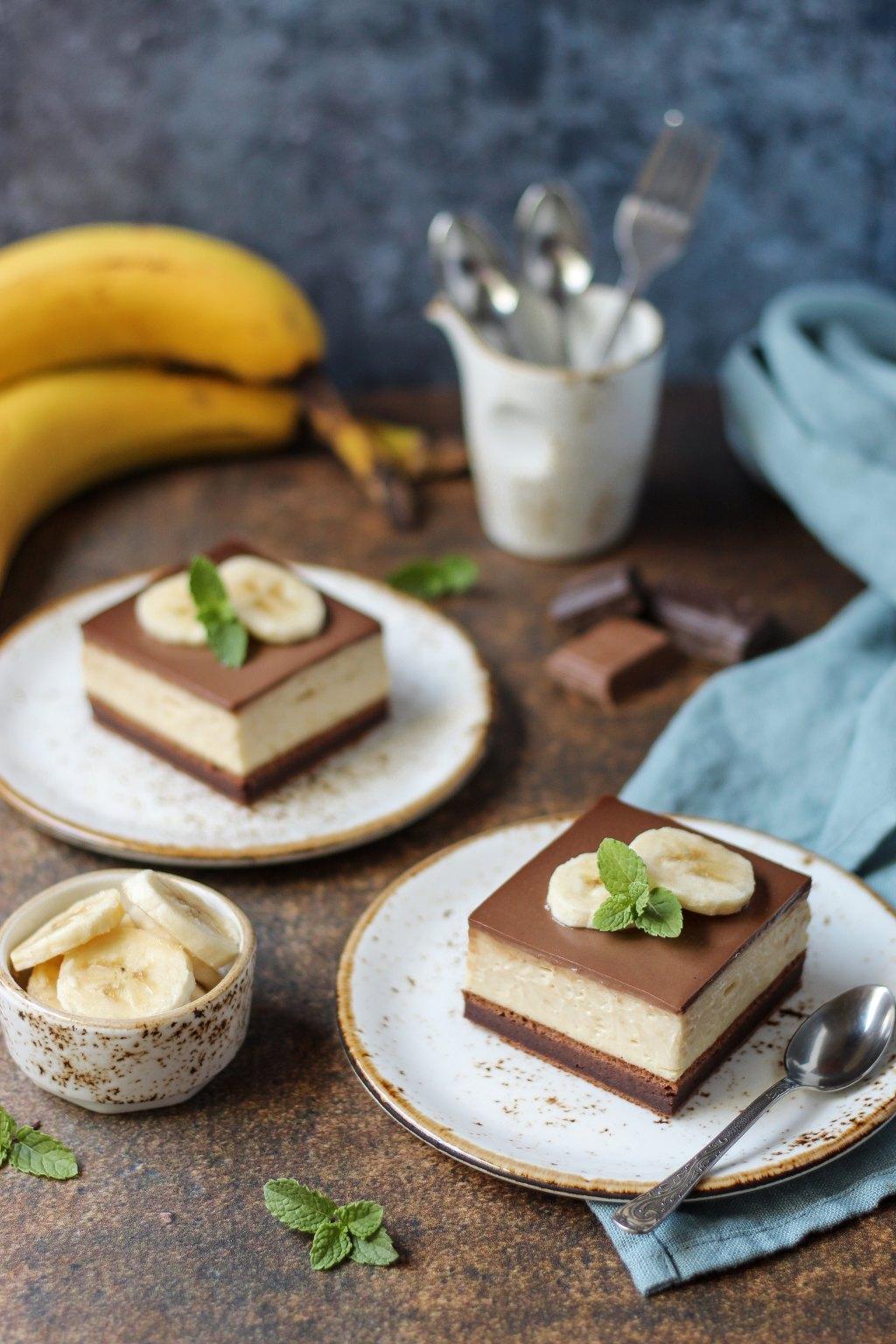 Krem kocke sa bananama i čokoladom 1