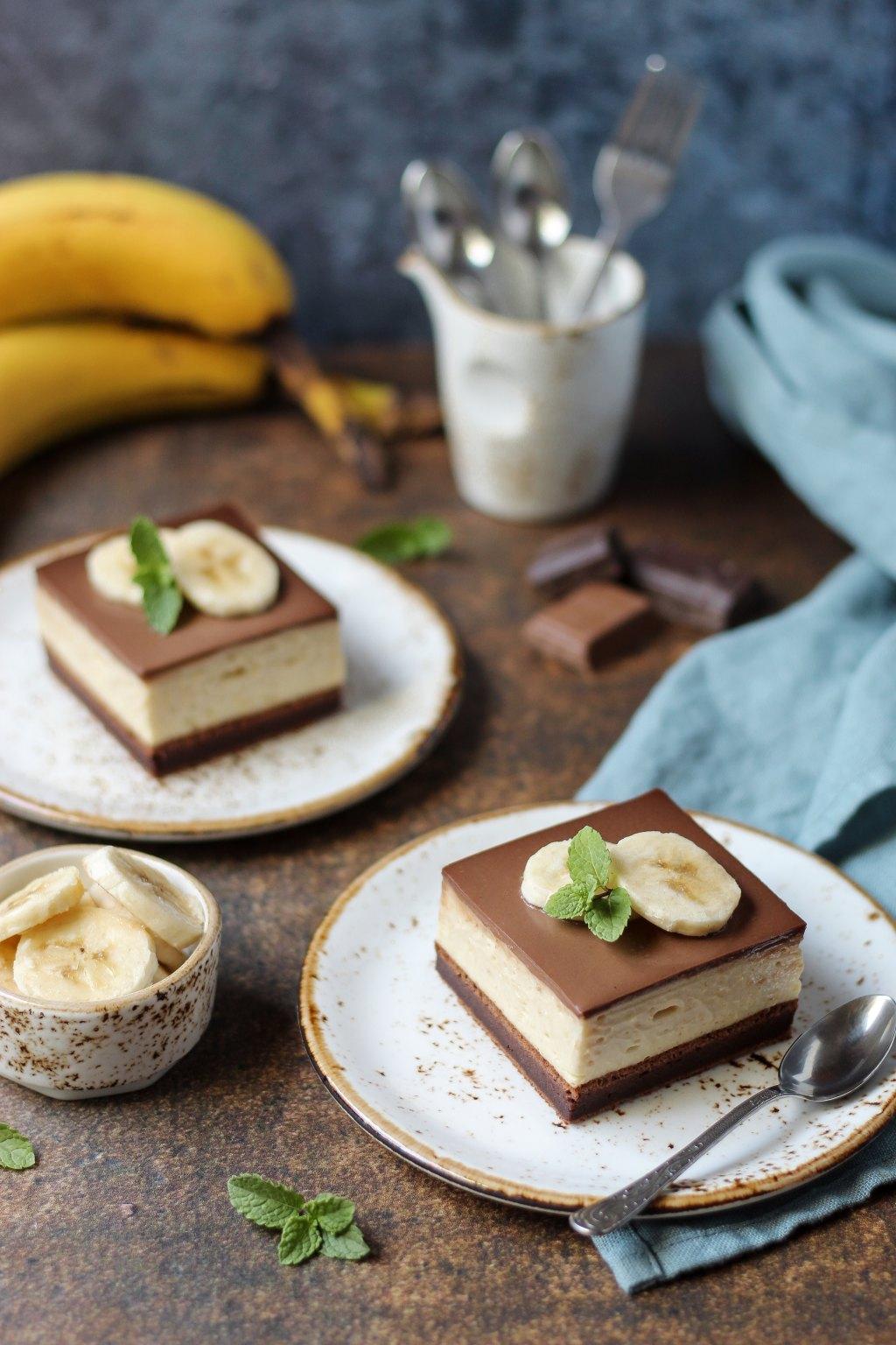 Krem kocke sa bananama i čokoladom 2