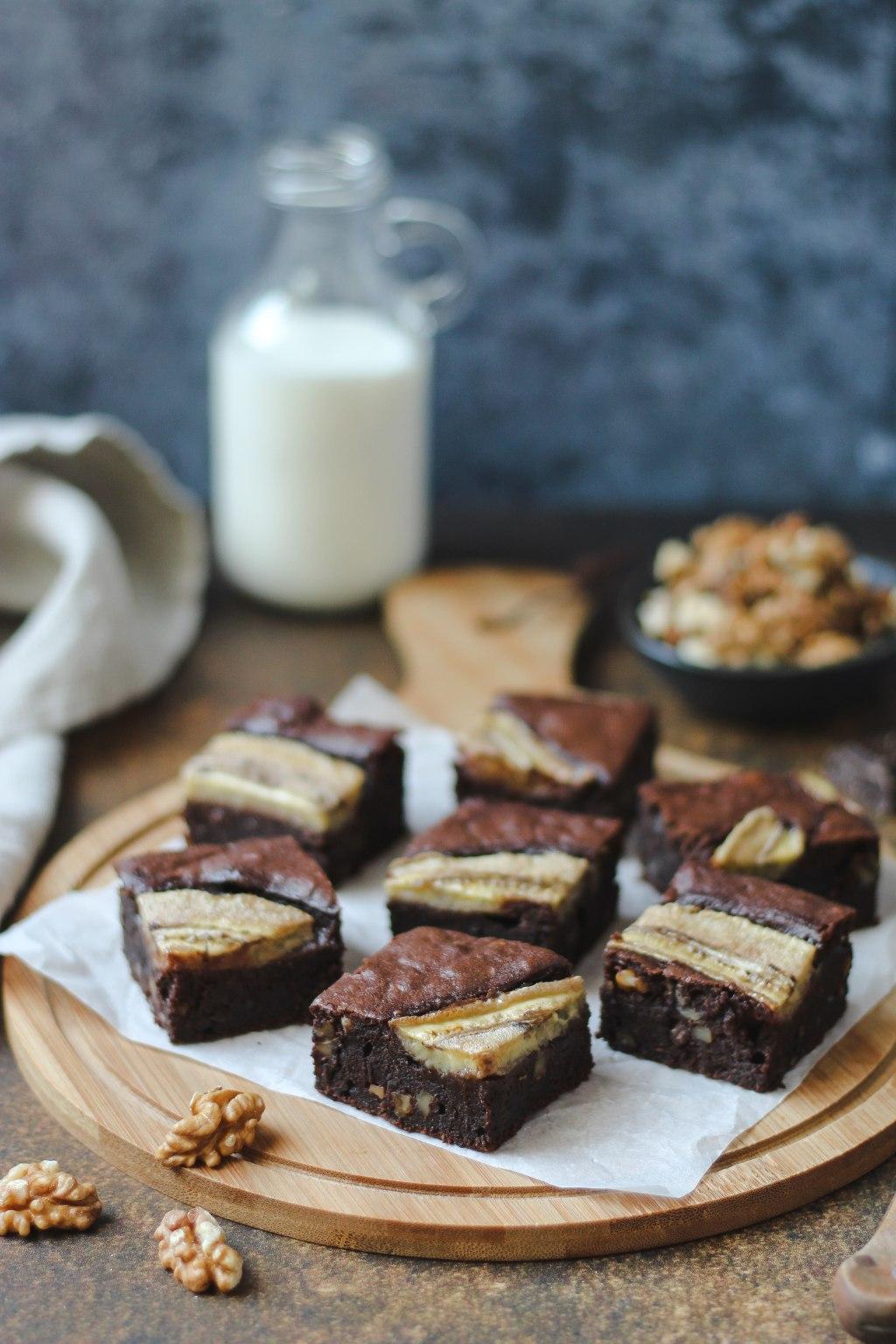 Čoko-banana brownies 5