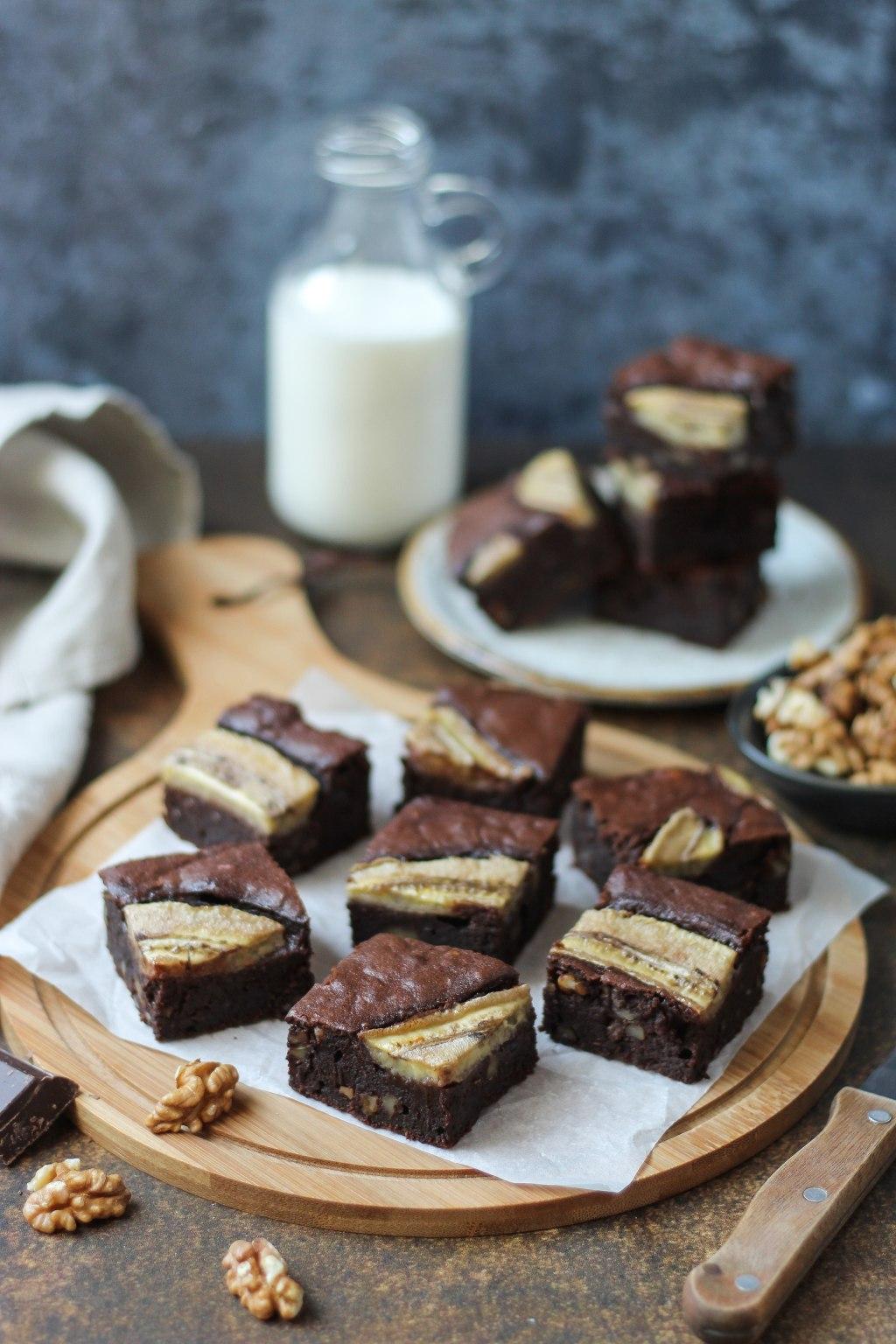 Čoko-banana brownies 1