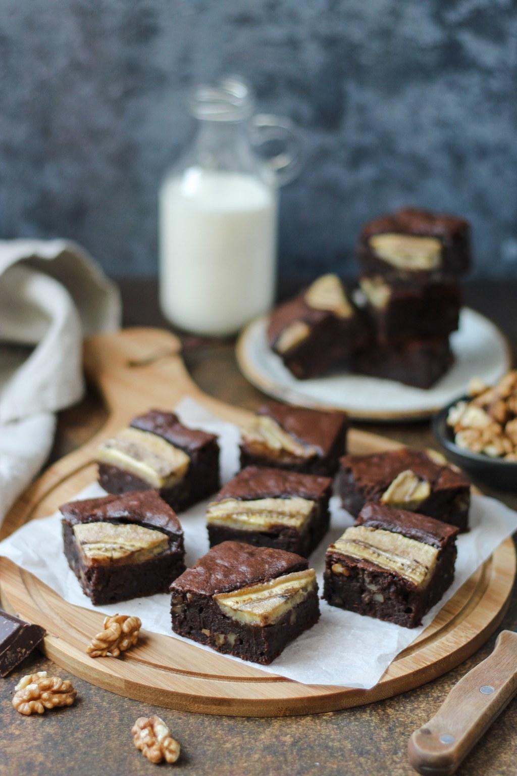 Čoko-banana brownies 2