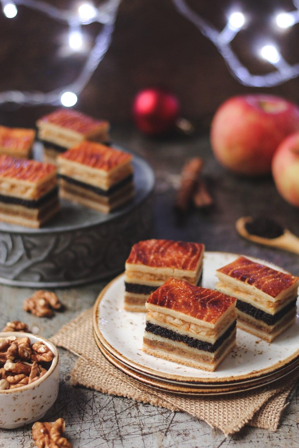Flodni - pita sa orasima, makom i jabukama 4