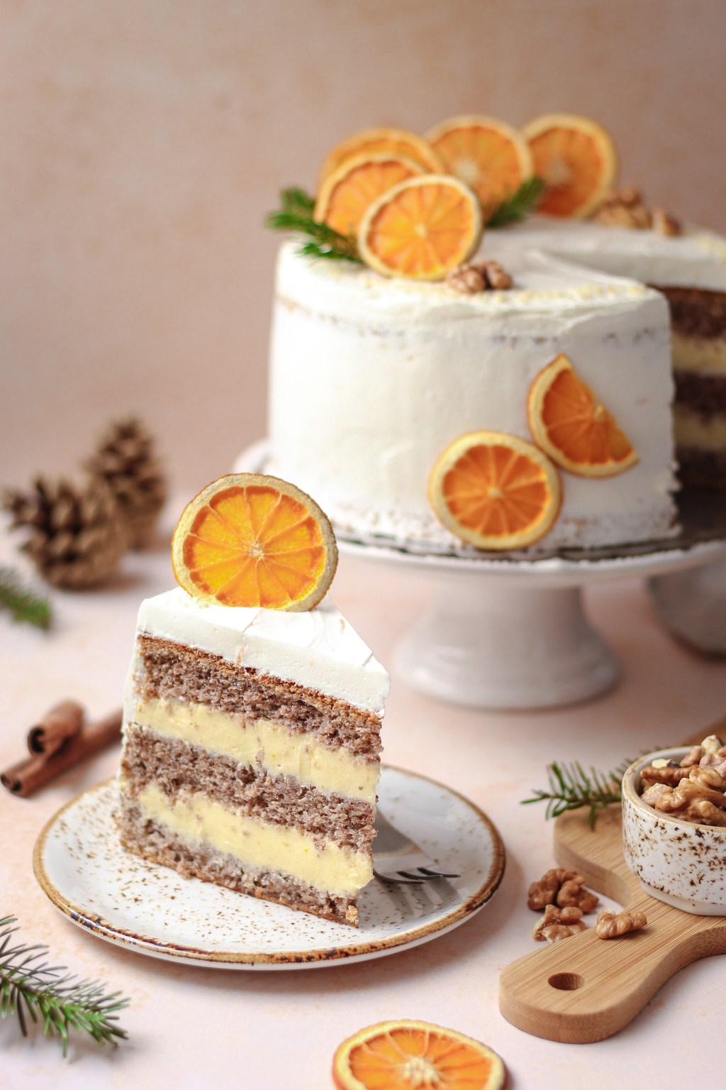 Zimska torta od oraha i narandže 6