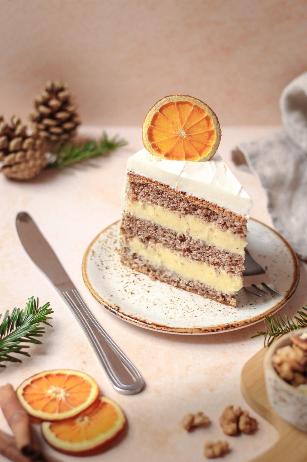 Zimska torta od oraha i narandže 8
