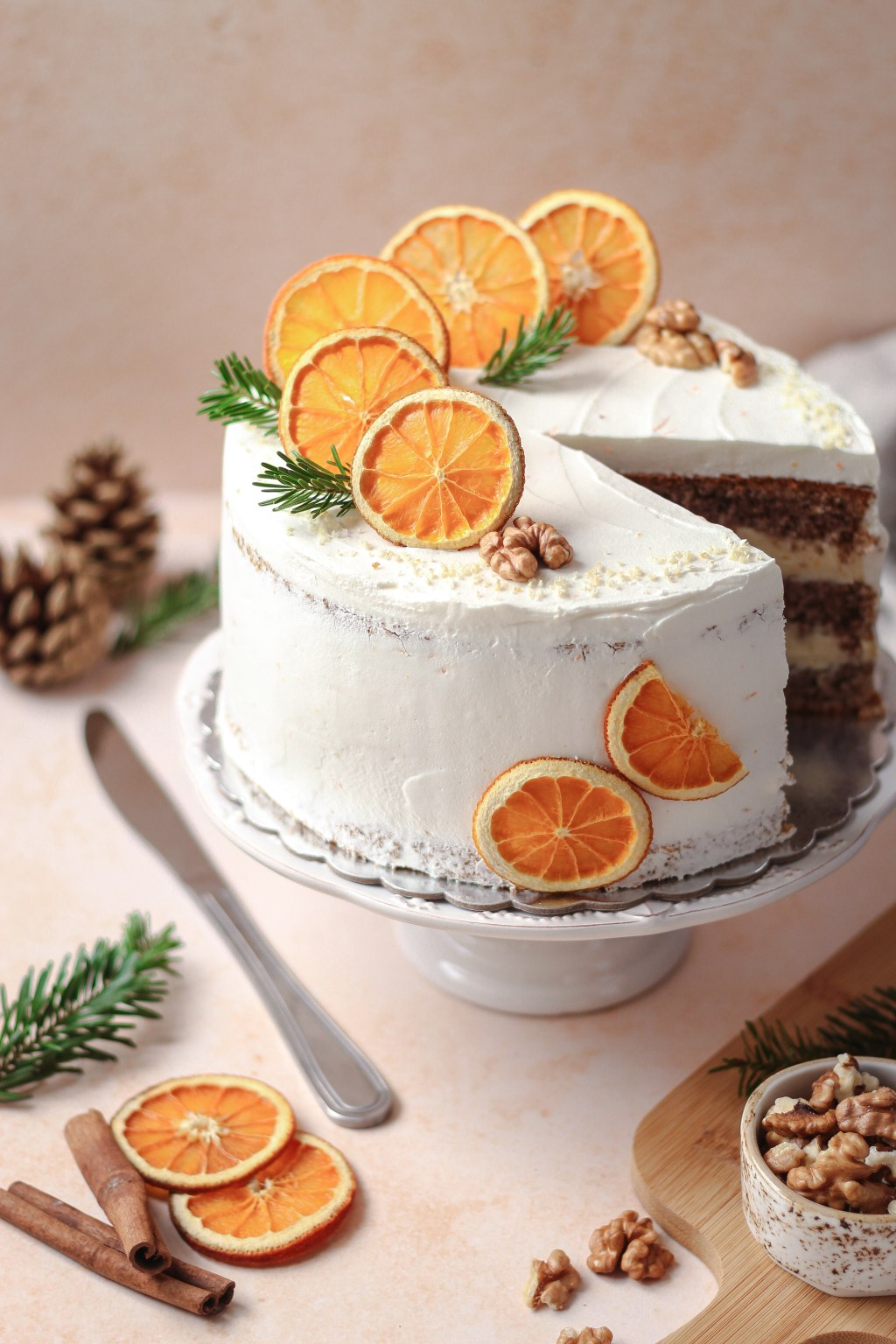 Zimska torta od oraha i narandže 5