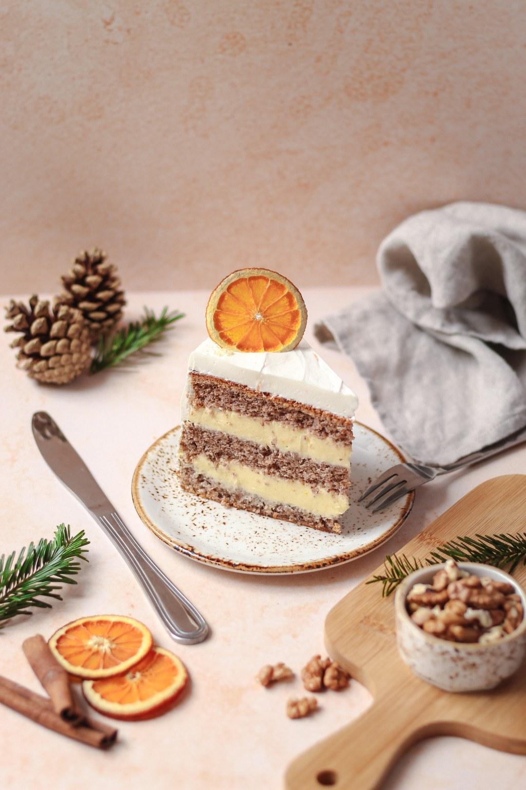 Zimska torta od oraha i narandže 7